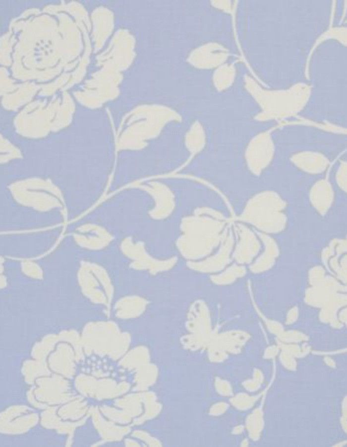 Oilcloth Meadow Powder Blue