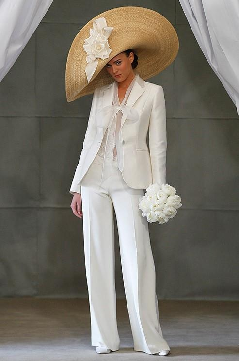 Emejing White Pants Suit For Wedding Pictures - Styles & Ideas ...
