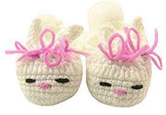 Amazon.com: Wholesale Princess Handmade Crochet Bunny Slippers with Bows: Clothing