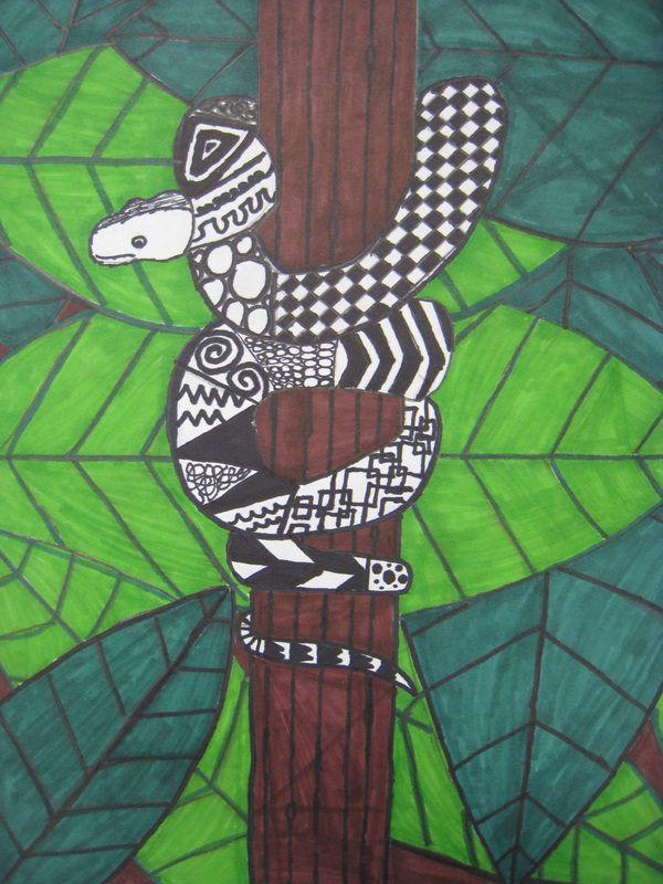 Animal Zentangles - The Coolidge Art Room