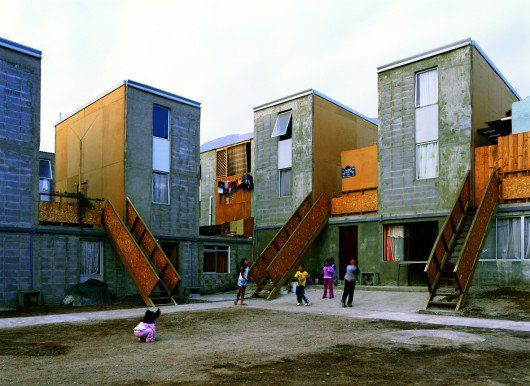 Elemental's Quinta Monroy houses in Chile have become a poster-image for Latin America's activist architecture. Image © Cristóbal Palma