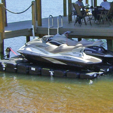 how to build a floating jet ski dock