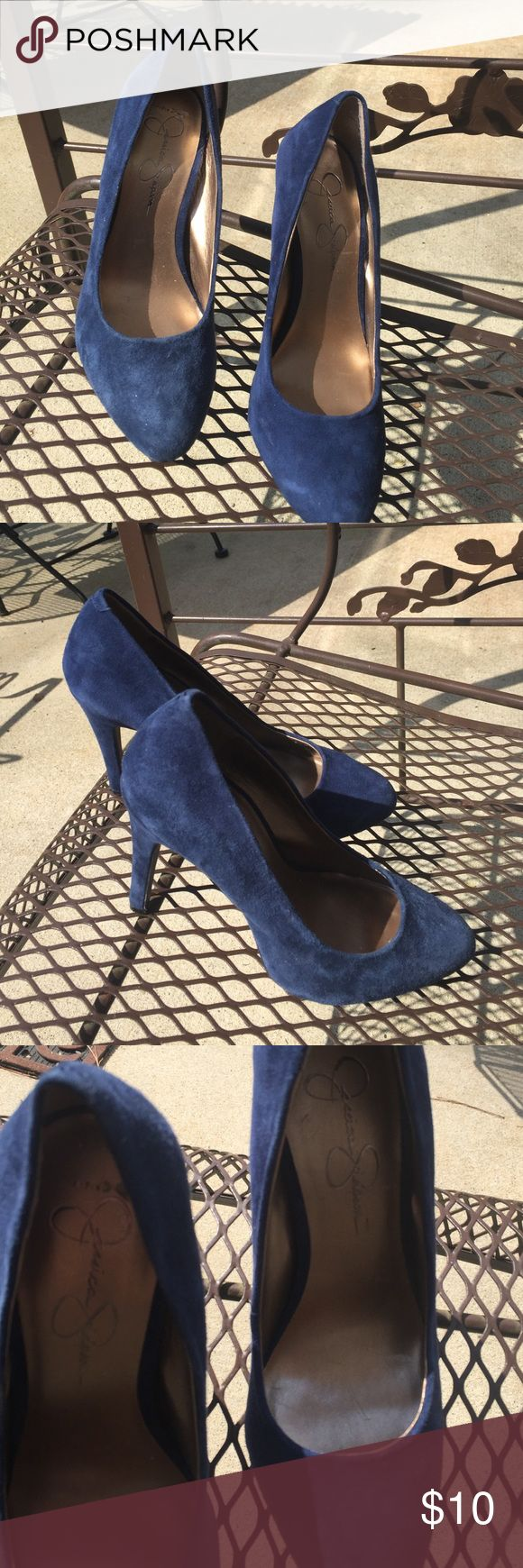 Blue suede pumps. Sz. 7 Blue suede pumps size 7. Jessica Simpson Shoes Heels