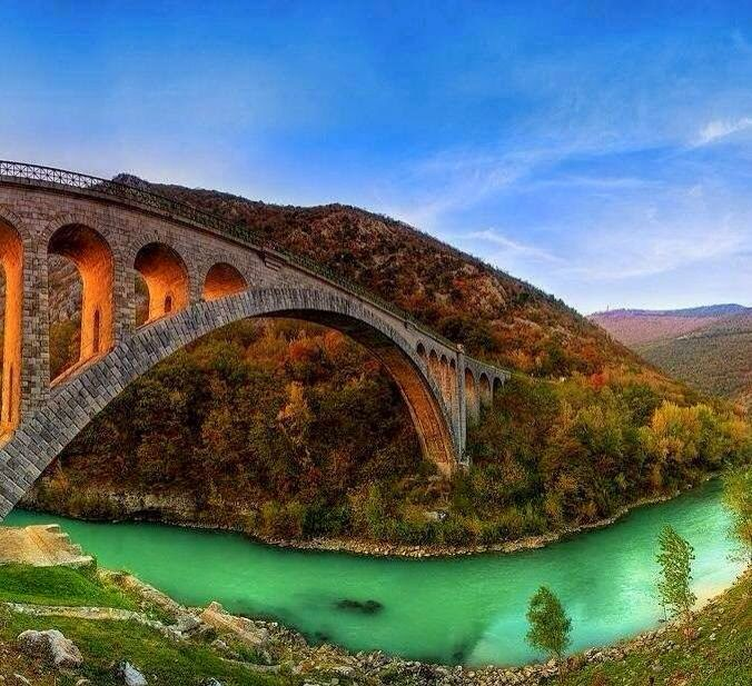 Solkan bridge Slovenia