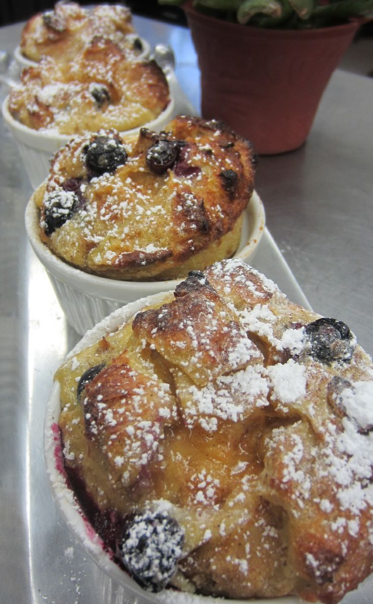 Blueberry Croissant French Toast Cups