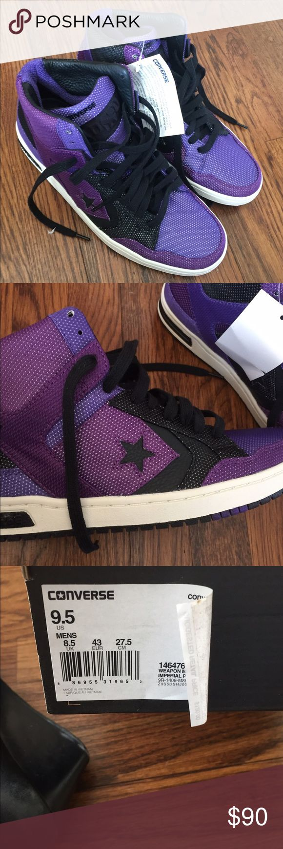 Men's Converse Weapon Sneakers Mid-Imperial purple Brand new, Men's Converse Weapon Sneakers Mid-Imperial purple. Size 9 new with box. Converse Shoes Sneakers