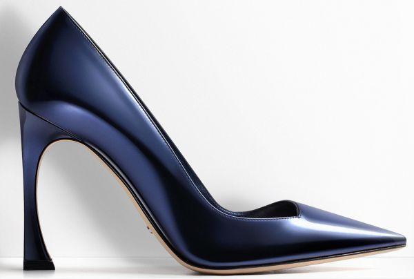 L'escarpin Bleu Nuit Dior