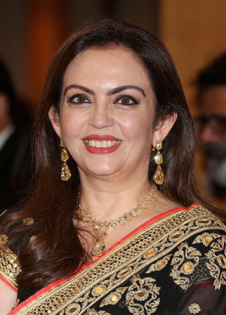 Nita Ambani at the British Asian Trust Reception in 2013 in Mumbai, India. Photo by Chris Jackson/Getty Images.