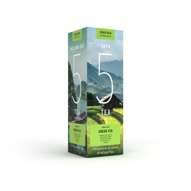 Vietnam Delight 5 green teas - with 15 tea pouches inside!! #tea #Vietnam #gift #greentea