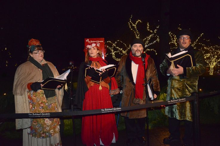 Traditional carollers during the 2015 Light-Up ceremony. #butchartgardens #FindChristmasHere #victoriaBC