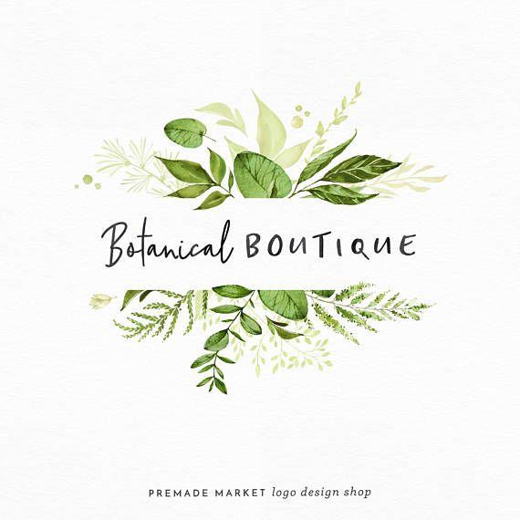 How lovely is this logo? Would be perfect for a florist shop :) Premade Logo Design   Botanical Logo   Handwritten Logo   Nature Logo   Blog Header   Small Business Branding   Leaf Logo   Shop Logo   Blog Logo   #ad