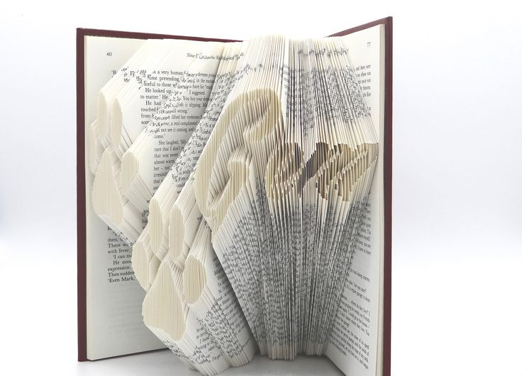 Custom order dog paws print plus pet's name - Folded Book Art-Gift for Girlfriend or Boyfriend Who Love Pets, Dogs, Puppies