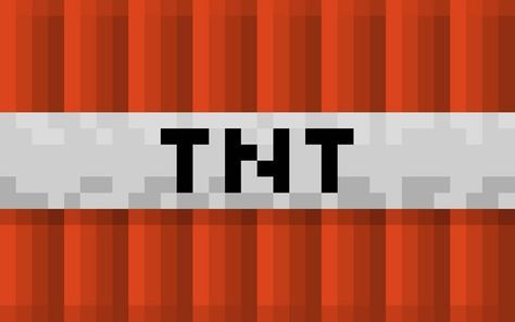 Minecraft TNT – un bloque lleno de dinamita con un adsorbente que consta de aserrín. Descarga fondo de pantalla con una resolución de: 1440×900