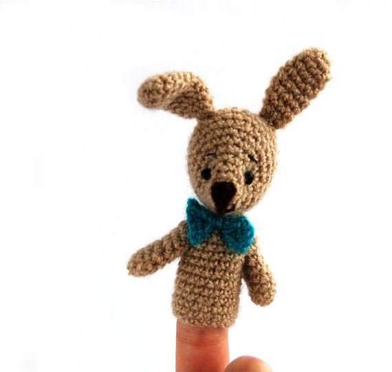 $21.64   soft BUNNY finger puppet, #cute #Easter #gift for #kids, #play #entertaining #puppet #show, #learning with #fun, #educational #puppet, #tiny #crochet #doll