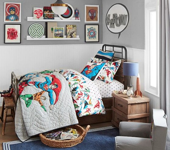 Justice League™ Duvet Cover | Pottery Barn Kids