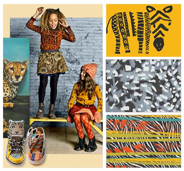 Bright and colorful, Confluence is full of energy, as tribal prints, city checks and animal patterns flock to the prints and graphics scene – trend inspiration S/S 2016