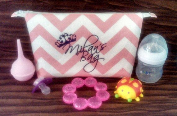 """10"""" Chevron Princess Baby Bag with Lint Free Lining by daintydesignsshop on Etsy, $17.50"""
