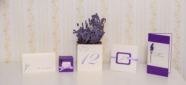 INVITATII HANDMADE: Lavender Love