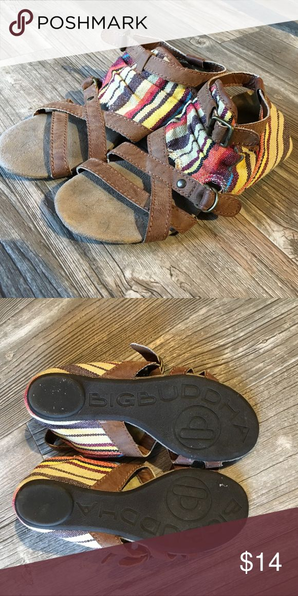 Big Buddha Sandals Big Buddha sandals in a 7.5. Comfortable sandals that really complete any casual outfit. Functioning buckles. Big Buddha Shoes Sandals
