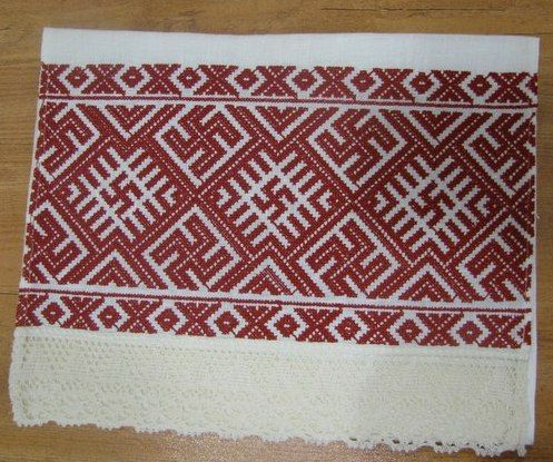 . Towel with a swastika (Kolovrat) - an ancient Slavic symbol of the sun, a powerful talisman against all evil, and good luck to the giver. it also means the same to all other cultures to which it is native.www.slav-museum.ru