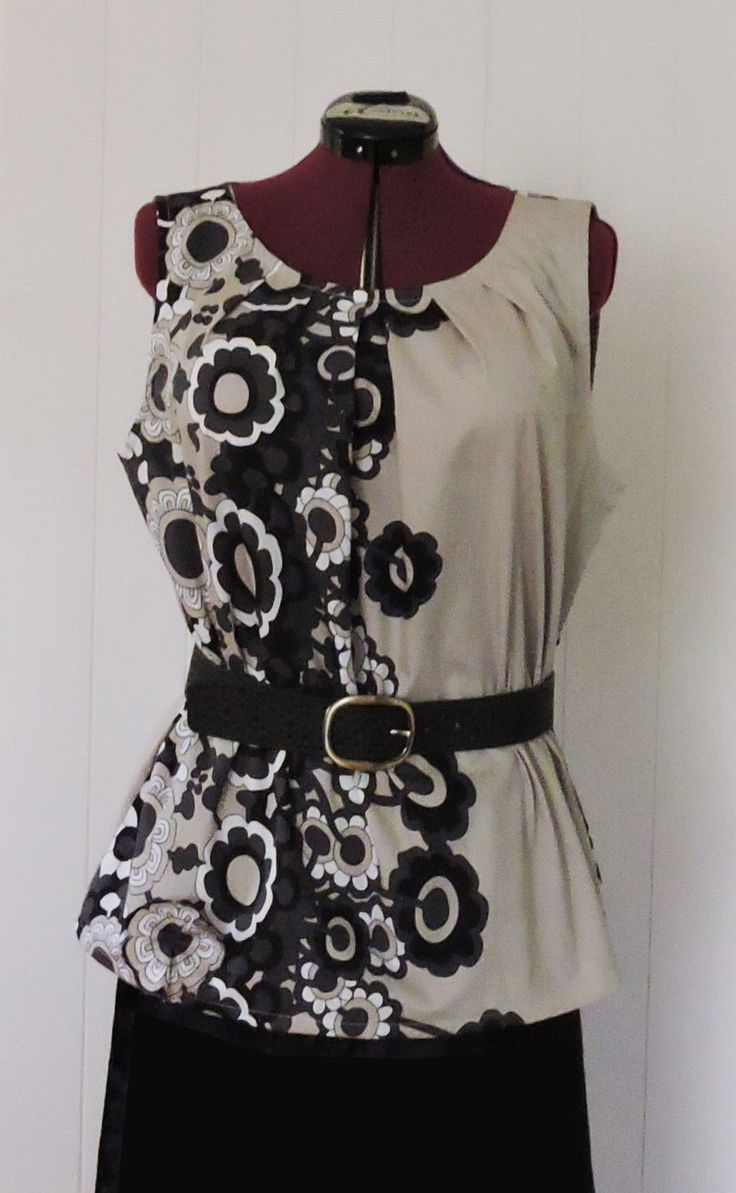 Ladies Top, Handmade, Plus Size, Floral, Sleeveless, Funky, Black, Grey, White, Polycotton, Tunic by dezignhub on Etsy https://www.etsy.com/au/listing/399895831/ladies-top-handmade-plus-size-floral
