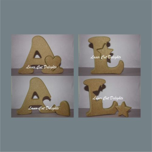 A great gift for anyone or just to finish off a bedroom theme. Choose from a star or a heart inside any letter or number. Enough room is left for personalisation after you have decorated this lovely item.