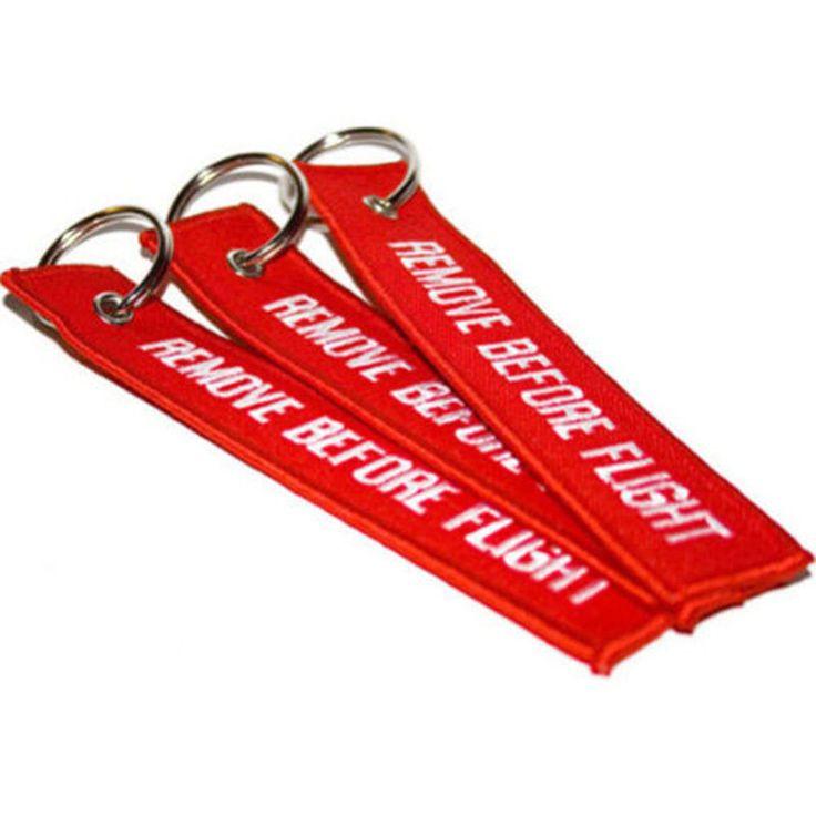 Hapus Sebelum Flight Bordir Kanvas Specil bagus Bagasi Tag Label kunci