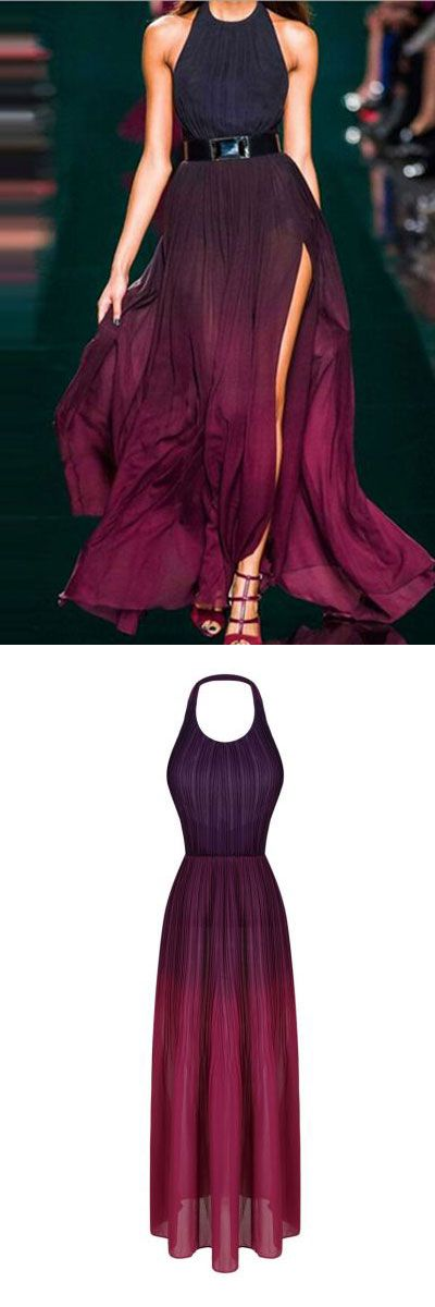 Gradient purple backless maxi dress! - to be a sexy queen!Find more backless dresses in choies.com!