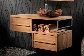 Mueble de Baño 2 Cajones Casamance - Natural - 120 cm