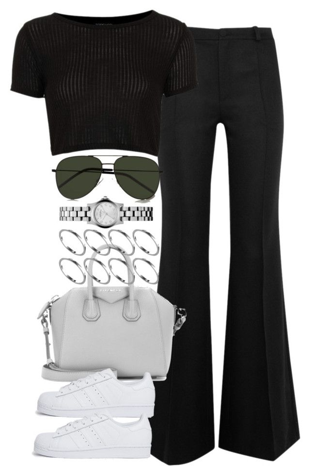 """""""Untitled #3571"""" by lily-tubman ❤ liked on Polyvore featuring Bouchra Jarrar, Topshop, Givenchy, adidas Originals, ASOS, Marc by Marc Jacobs and Yves Saint Laurent"""