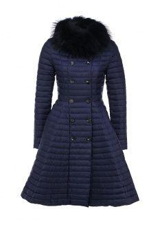 Пуховик Odri, цвет: синий. Артикул: OD001EWGJW71. Женская одежда / Верхняя одежда / Пуховики и зимние куртки