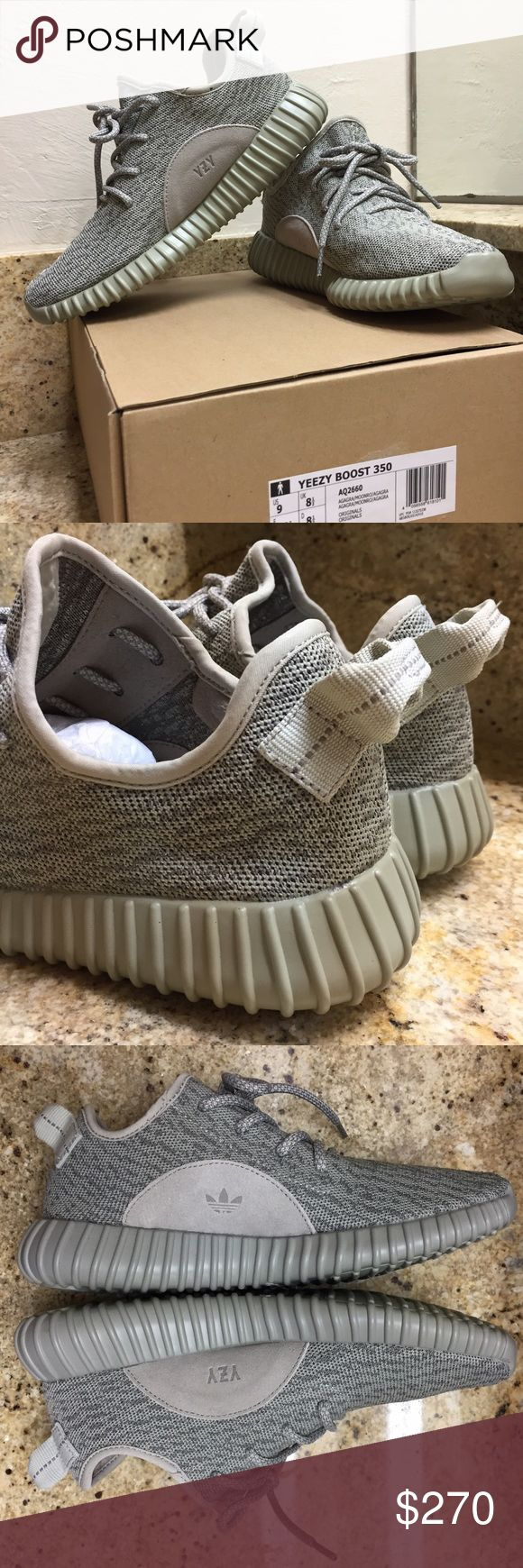 Adidas Yeezy Boost 350 Moonrock Size 9 Adidas Yeezy Boost 350 Moonrock Size 9  **If you don't want to pay $800-1200 for retails...these are a great option!**  Unbelievable comfort & high quality UA. Made in same factory, same materials. Comes in original box with tags.  Next day shipping! *Offers are welcome.Serious buyers only*  What you see is what you get.   True to size. Yeezy Shoes Athletic Shoes