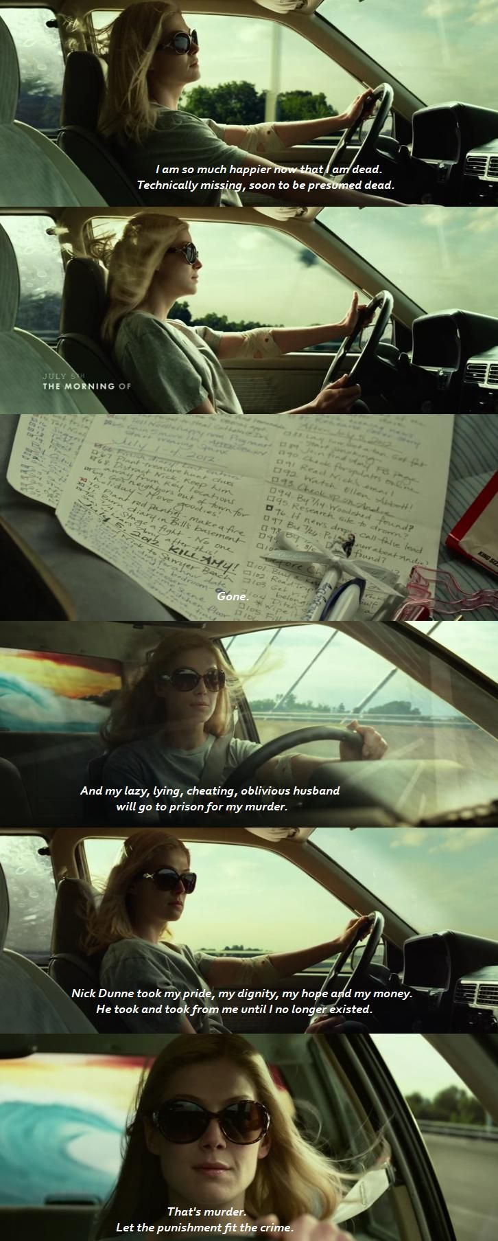 Amore Bugiardo - Gone Girl (2014) Rosamund Pike as Amy Elliot Dunne
