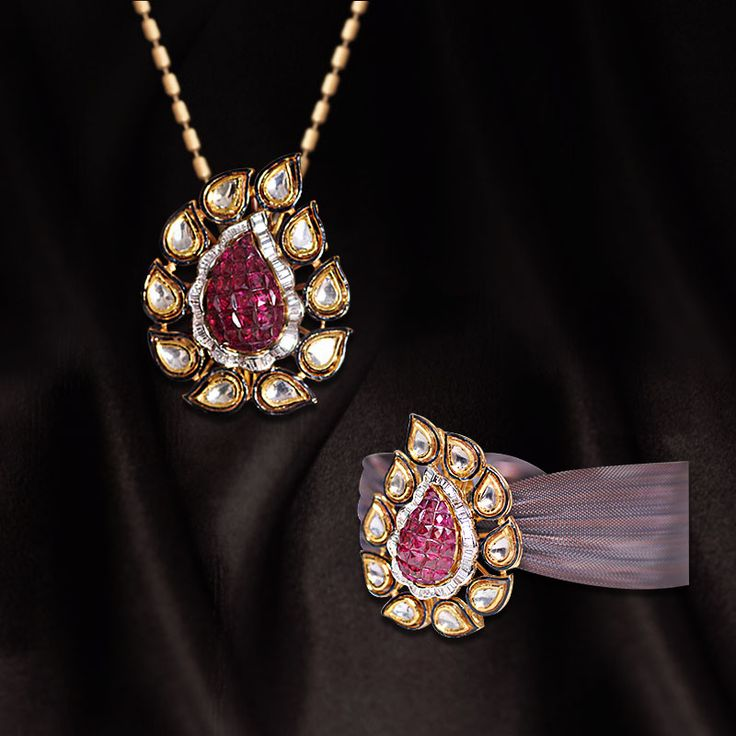 Diamond Polkie Pendant - Diamond Ring      Call us NOW for Diamond Jewelry, Designer Jewelry, Bridal and Semi - Bridal Jewelry on 0124 4200 0518 or walk in our showroom in Gold Souk Mall,Gurgaon