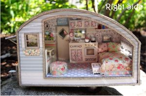 Tiny Trailers Collection by Ms. Lydia Pickett's Vintage Travel Trailers. A miniature design, but very cute and practical.