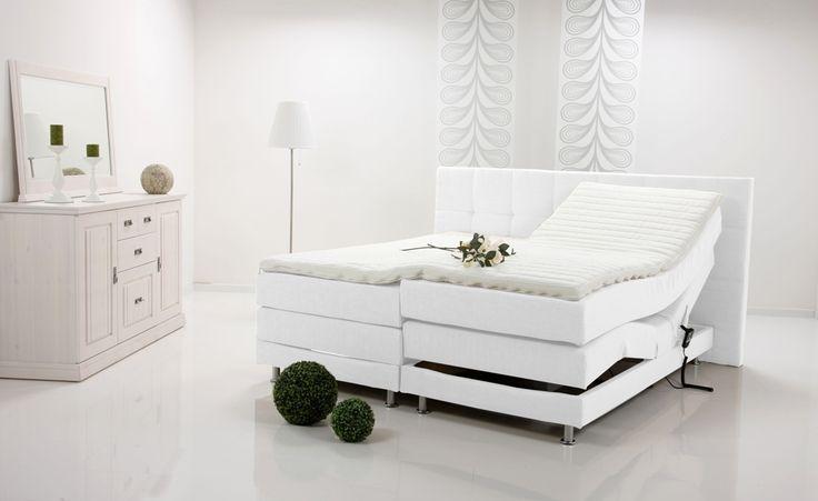 ALESSA Boxspringbett Doppelbett / Einzelbett elektrisch verstellbar Schwarz  160 x 200 | schwarz | Härtegrad 2