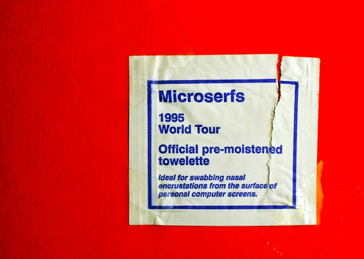 Microserfs 1995 World Tour Official pre-moistened towelette - Douglas Coupland