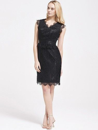 All-Over Lace Bridesmaid Dress   Plus sizes available! You can even custom dress color with them!