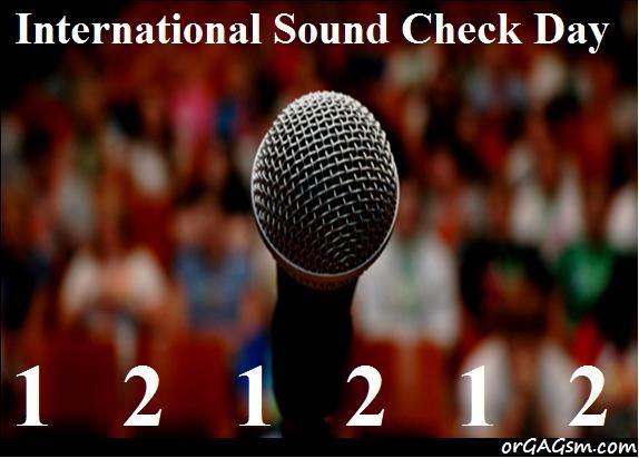International sound check day