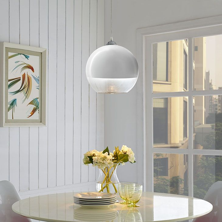 Modway daylight chandelier in clear color