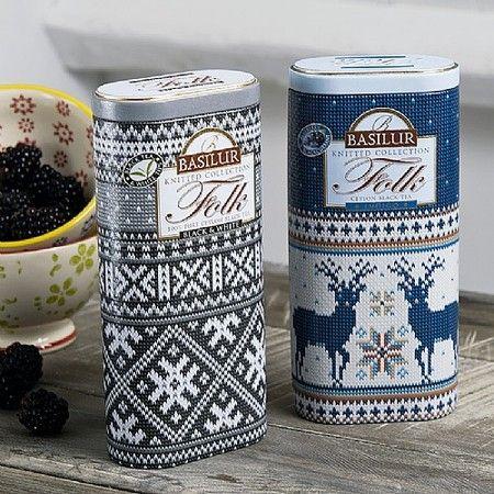 Set of 2 Knit Tea Tins