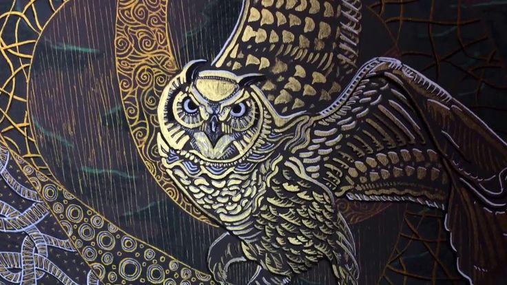 """Owl's fairy tale: Eagle owl "" / ""Совиная сказка: Филин"""