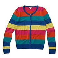 love the rainbow stripes. Raglan would make this less girly
