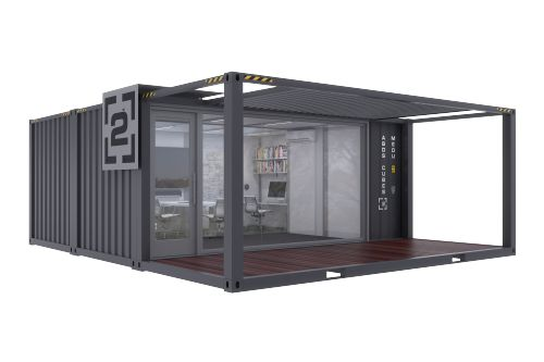 20 foot double wide custom office container for sale containers container office shipping. Black Bedroom Furniture Sets. Home Design Ideas