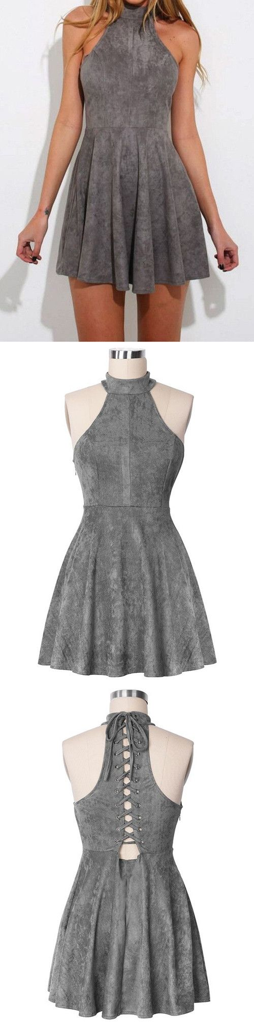short homecoming dresses,grey homecoming dresses,simple homecoming dresses,cheap homecoming dresses @simpledress2480