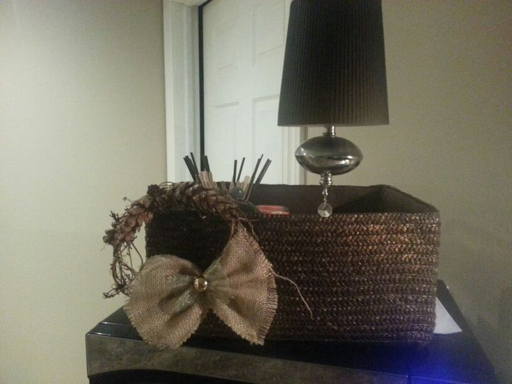 Added a burlap bow to this one.