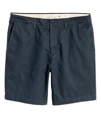 Chino shorts | Dark blue | Men | H&M EG