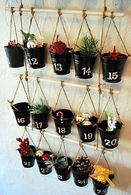 DIY Pottery Barn Advent Calendar