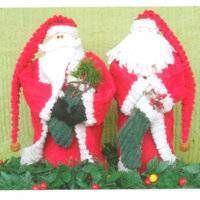 Chenille Santas Patchwork Pattern