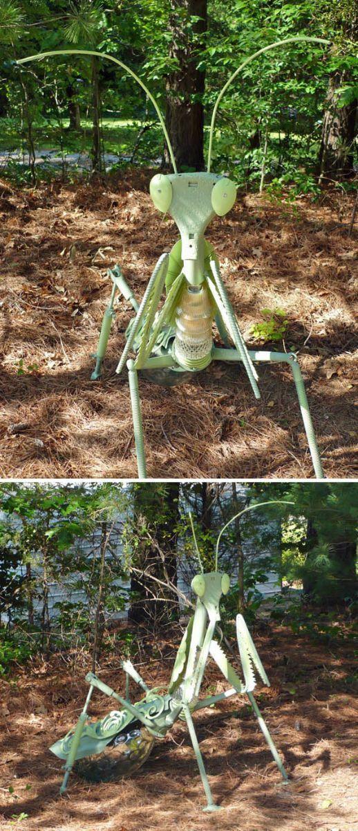 Praying Mantis | Repurposed Garden Art Via Gardenweb Garden Junk Forum